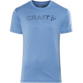 Craft Prime Logo Hardloopshirt korte mouwen Heren blauw